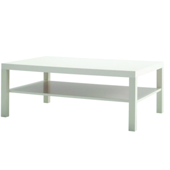 Large White Coffee Table -