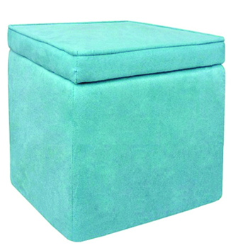 Turquoise Cubed Ottoman -