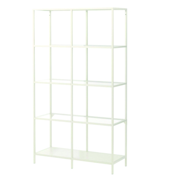 White Double Glass Shelf -