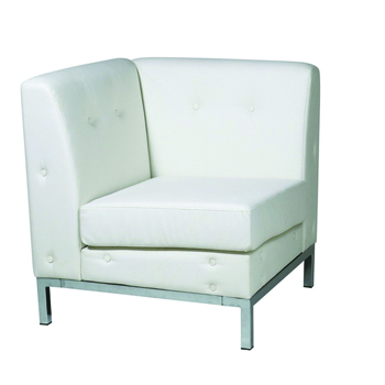 White Modular Corner Chair -