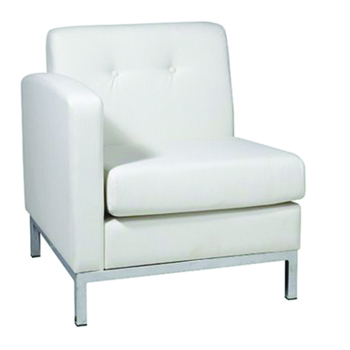 White Modular Left/Right Arm Chair -