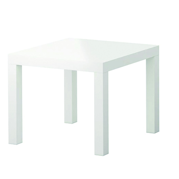 White Side Table -