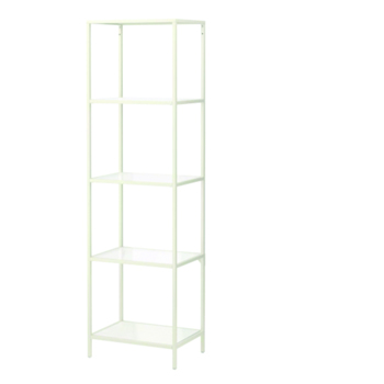 White Single Glass Shelf -