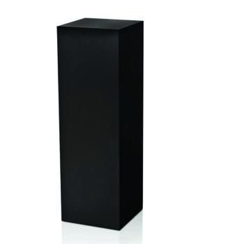 Black Cubed Pedestal -