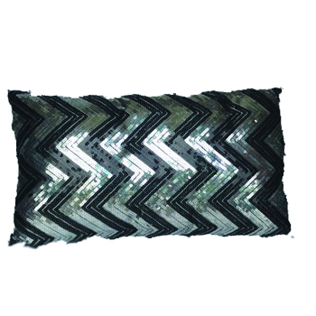 Black Sequined Pillow -