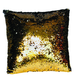 Gold Sequined Pillow -