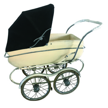 Vintage Silver Cross Baby Buggy -