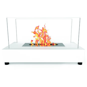 White Table Top Fireplace -