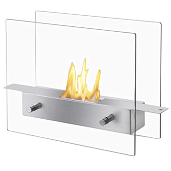Chrome Table Top Fireplace -
