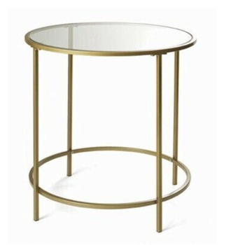 Gold Round Side Table -