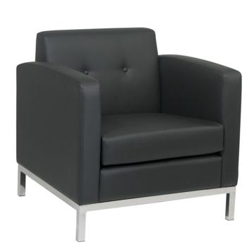 Black Side Lounge Chair -
