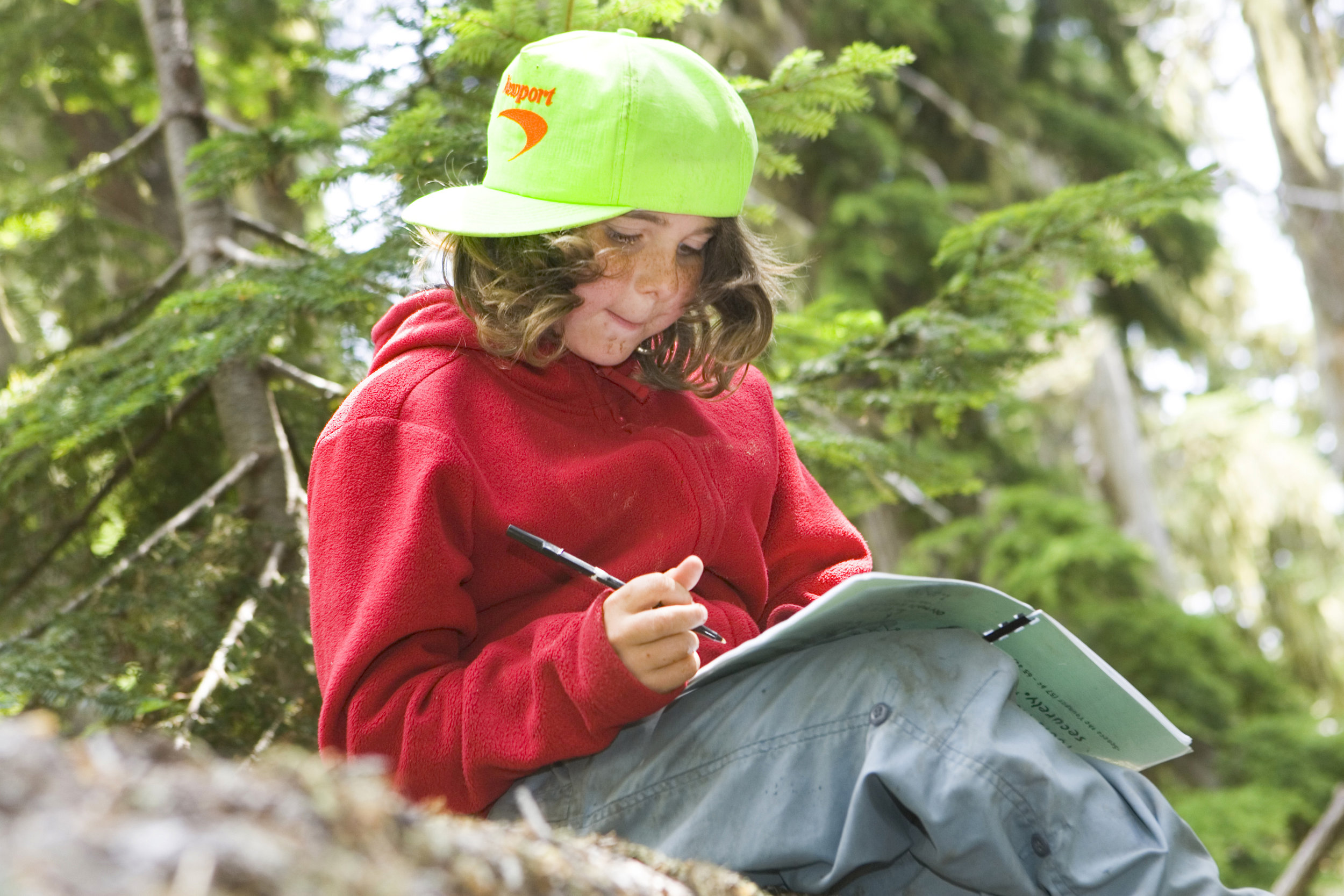 Participants enjoy Nature Sit-Spots and Journaling activities.