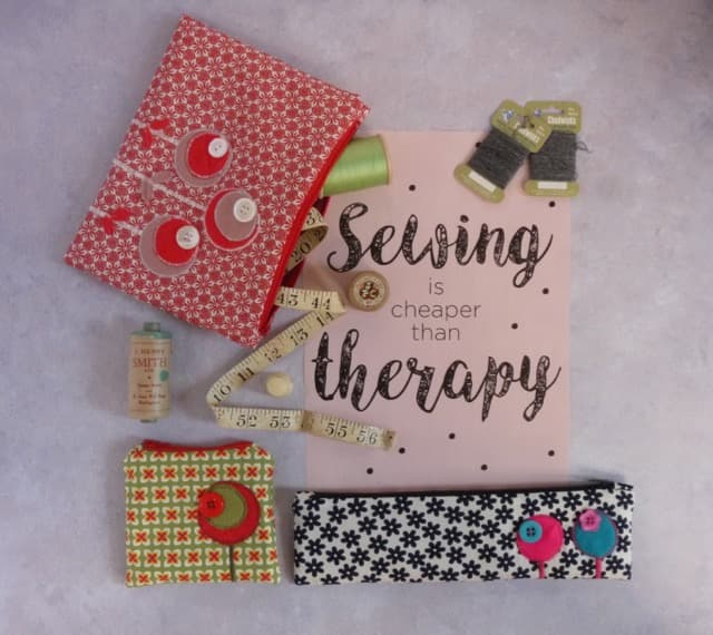 Selection of zipped purses and cases