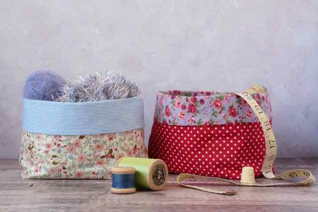 Set of two Fabric Storage Boxes