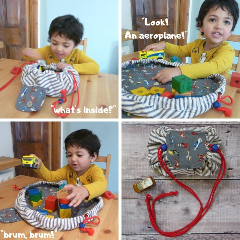 Open Flat Toy Bag