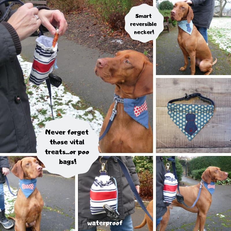 Dog Necker & Treat Bag with Bag Dispenser
