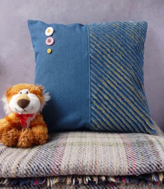 Stitch and Slash Cushion with Zip