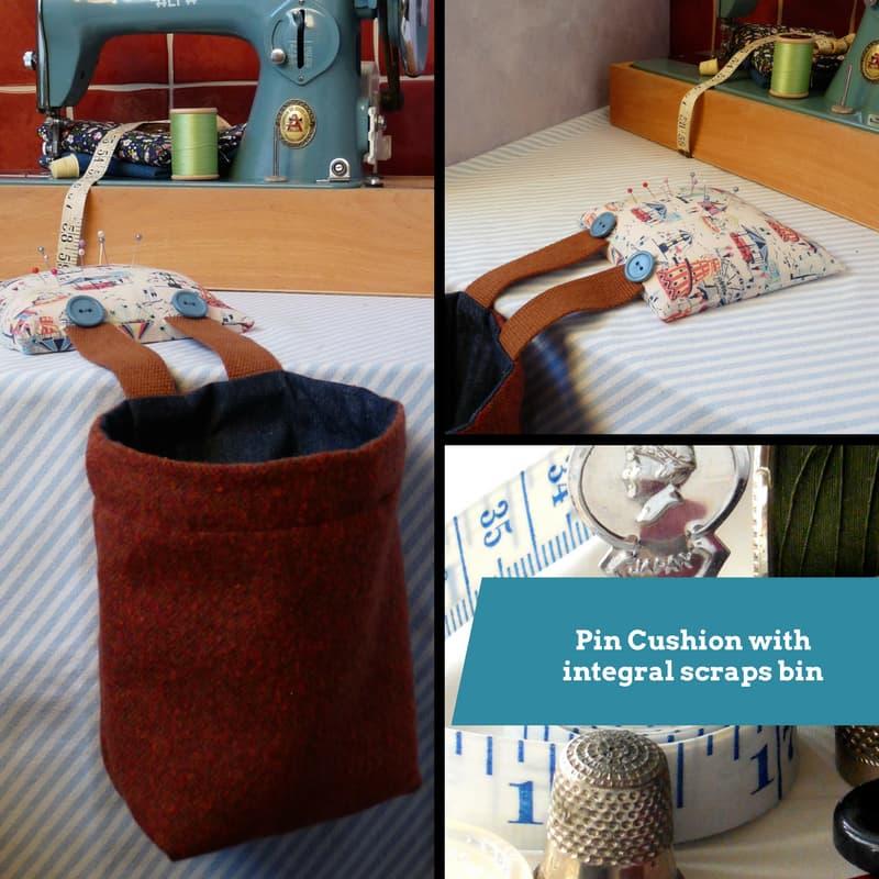 Pin Cushion with Scraps Bin