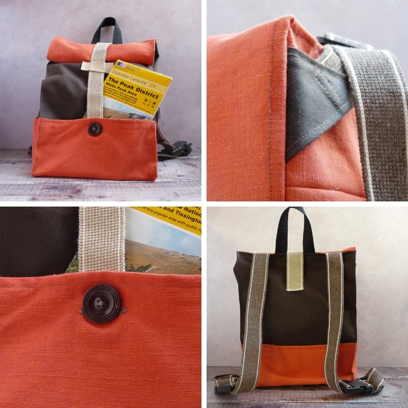 Rucksack with Waxed Cotton
