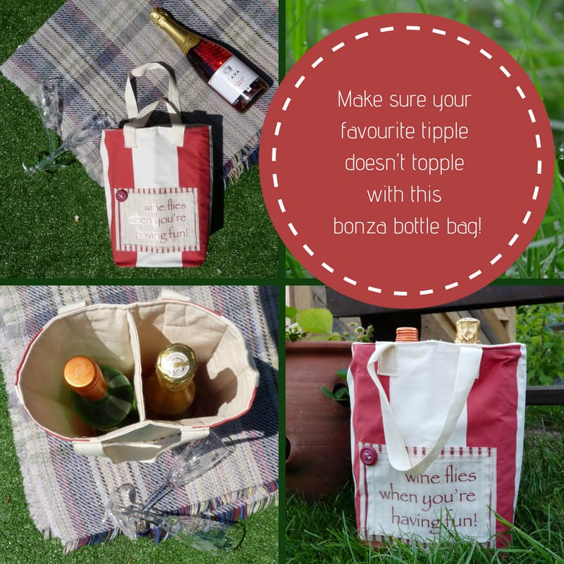 Wine Bottle Bag (with quote)