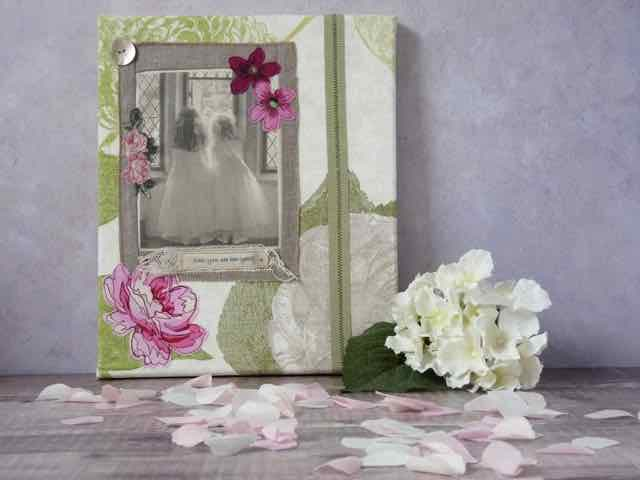 Photo and Embroidered Canvas Picture