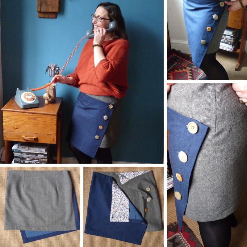 Asymmetrical Tweed Skirt