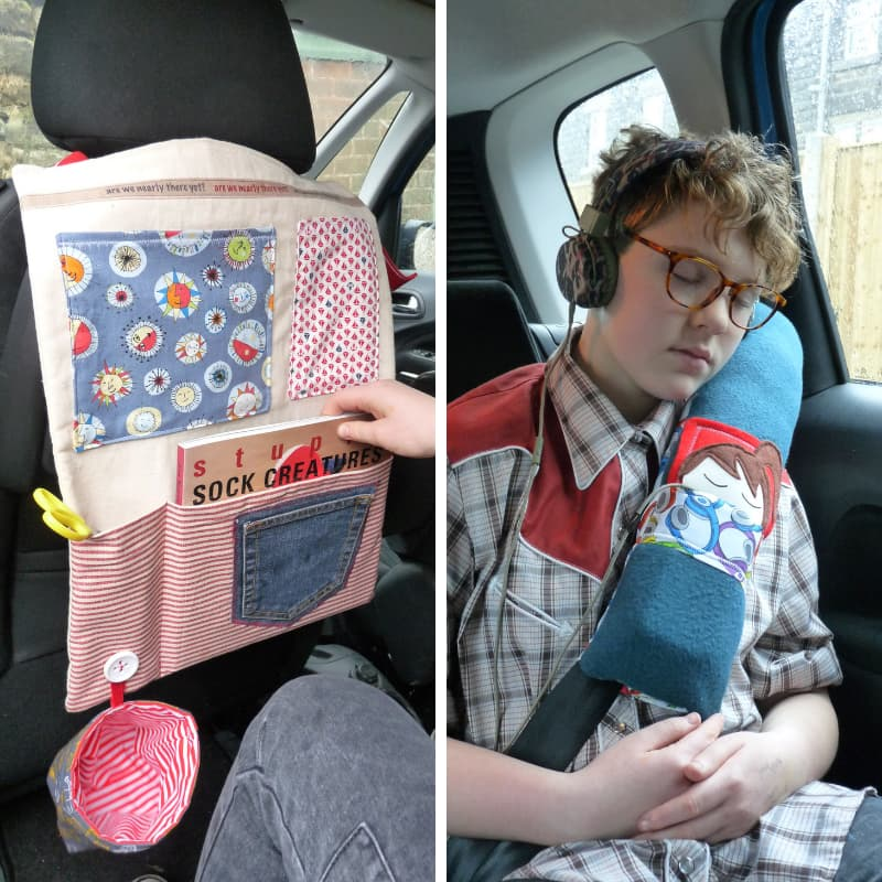 Car Seat Organiser and Seat Belt Cosy