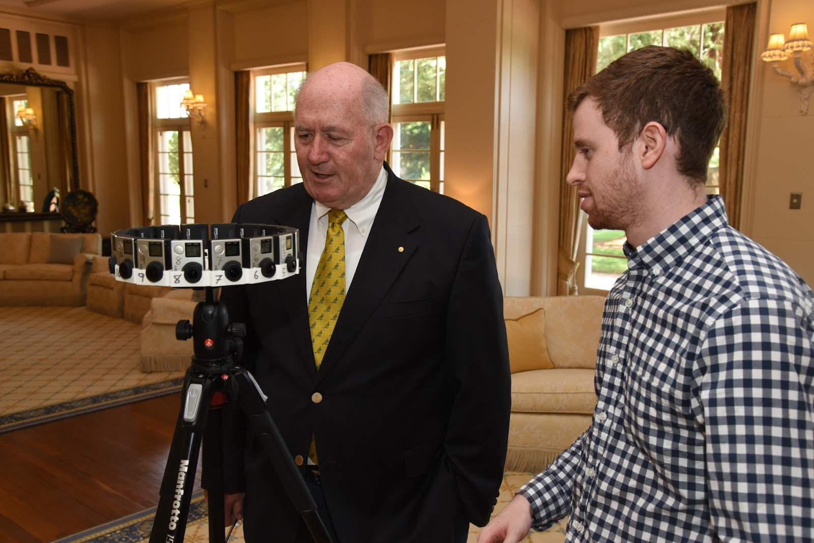 While at Google, David met with Australia's Governor General in Canberra to discuss the role of VR in education ( link ).