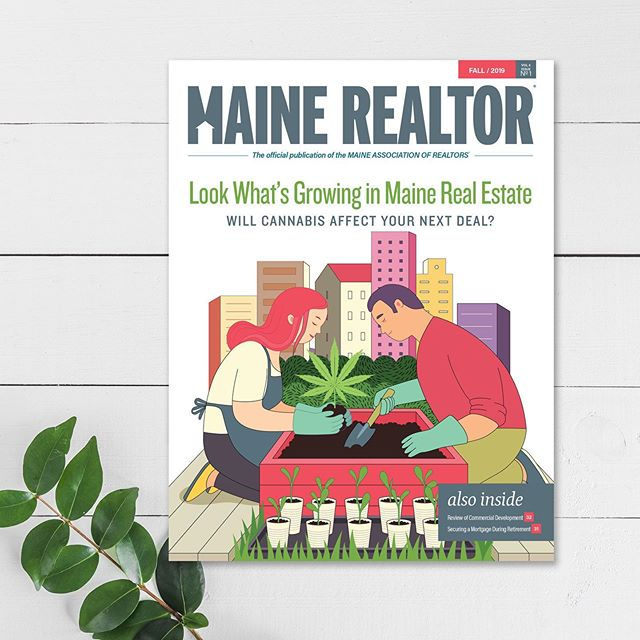 In our latest issue of Maine Realtor we tackle the hot topic of legalizing marijuana. Here is our customized cover art. . . . . . #design #graphicdesign #branding #artdirection #illustration #typedesign #marketing #typography #designfirm #maine #smallbusiness #womeninsmallbusiness #talleyodesign #logodesign #printdesign #collateraldesign #publicationdesign #magazinedesign #lettering #print #webdesign #packagingdesign #slowroastedco