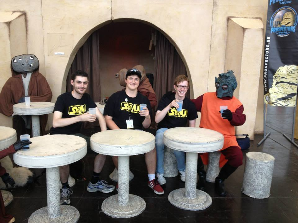 (L-R) Irish Chris, Dominic, and Ciaran at Star Wars Celebration Europe 2013 in Essen, Germany.
