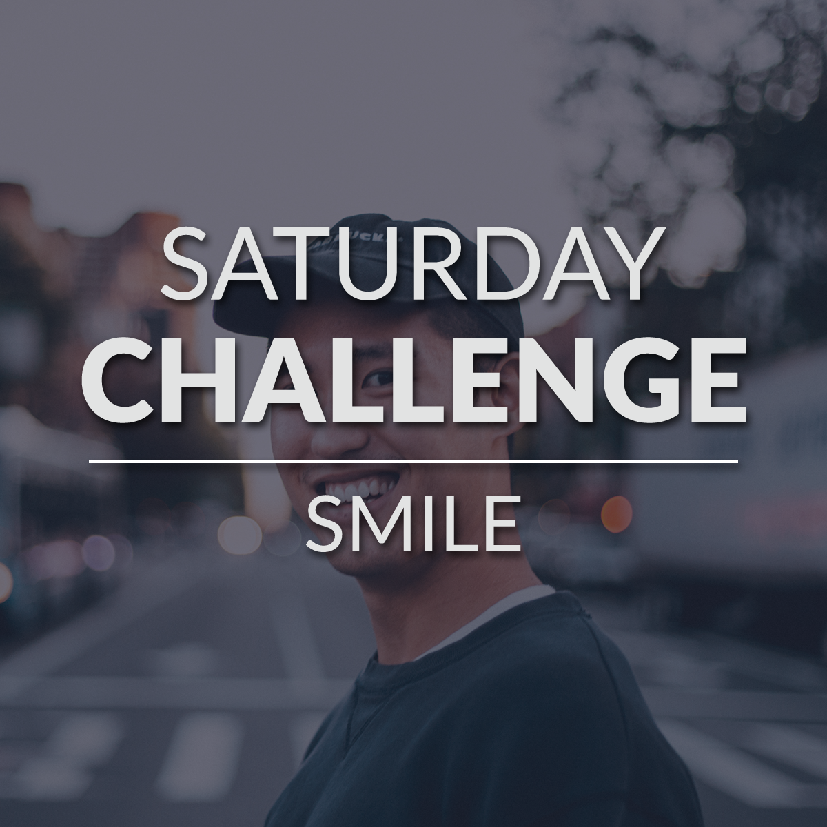 Smile when leading worship