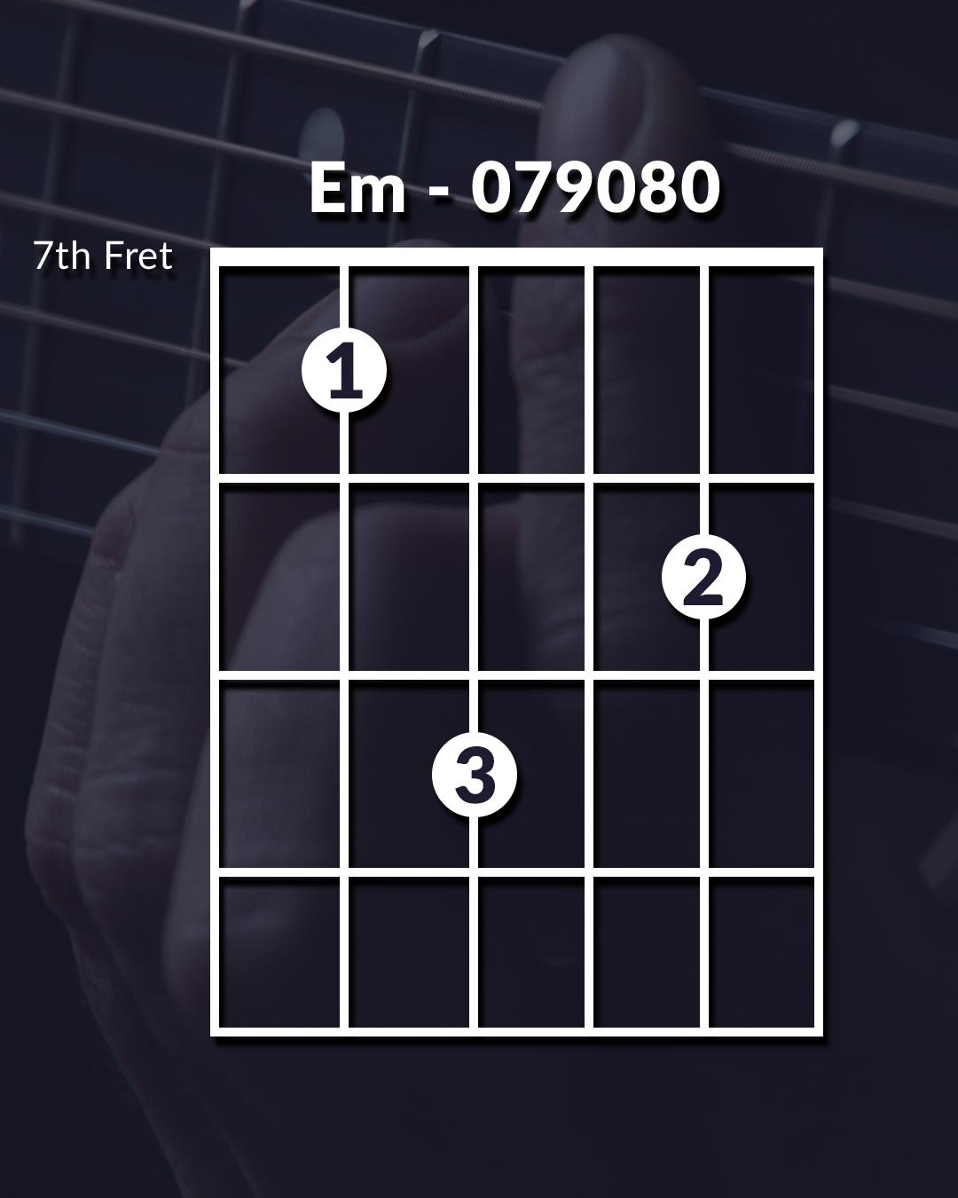 Guitar chord em unique voicing
