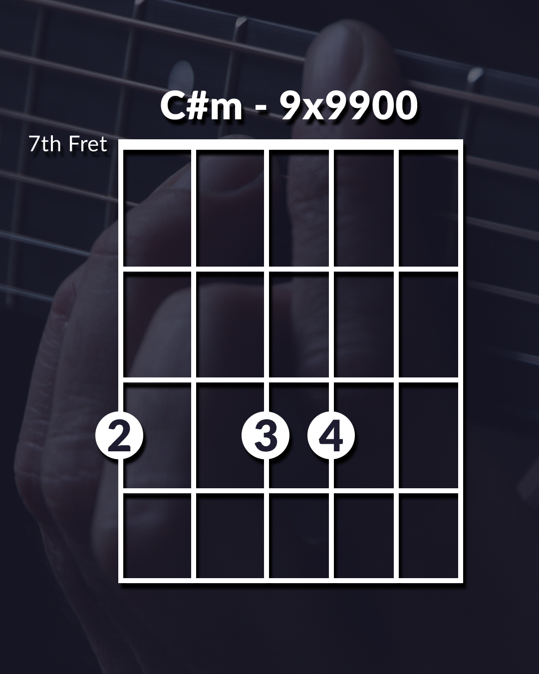 Unique Guitar Chord C#m
