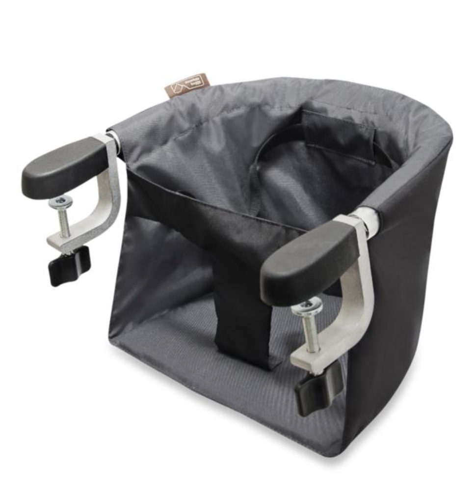 MOUNTAIN BUGGY POD CLIP ON HIGH CHAIR - I keep this in the back of my car incase we every go anywhere that doesn't have highchairs or if we go to friends houses to have dinner. You can simply attach it to any surface and you have a compact highchair!