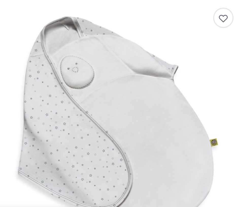 NESTED BEAN ZEN SWADDLE - My favorite swaddle i've ever used. It has a small weighted compartment on so it feels like your hand on the baby. Because my babies both slept on their stomach, I used mine backwards.