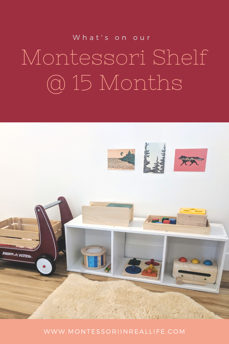 Montessori Shelf at 15 Months