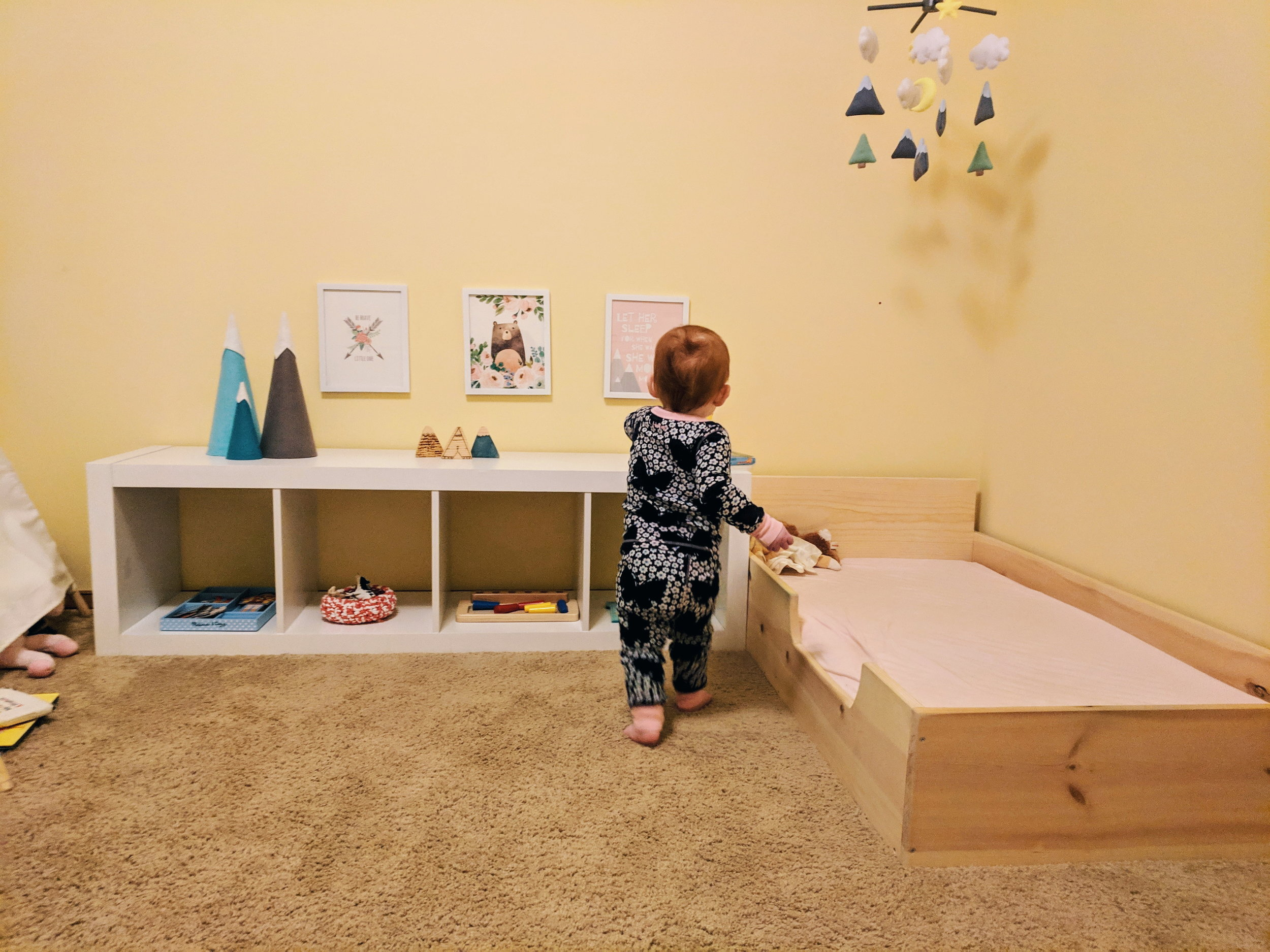 A Montessori Toddler Dressing Area - Montessori in Real Life
