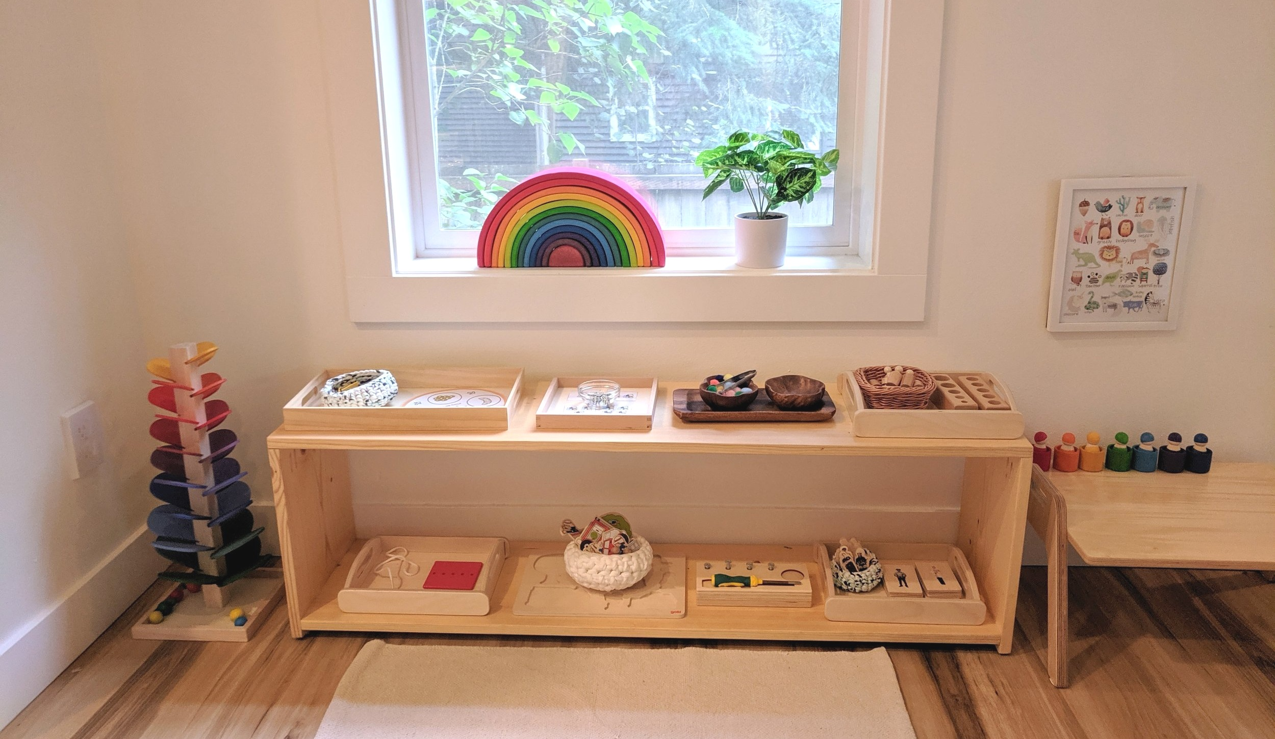 D's Shelfie at 26 Months - Montessori in Real Life