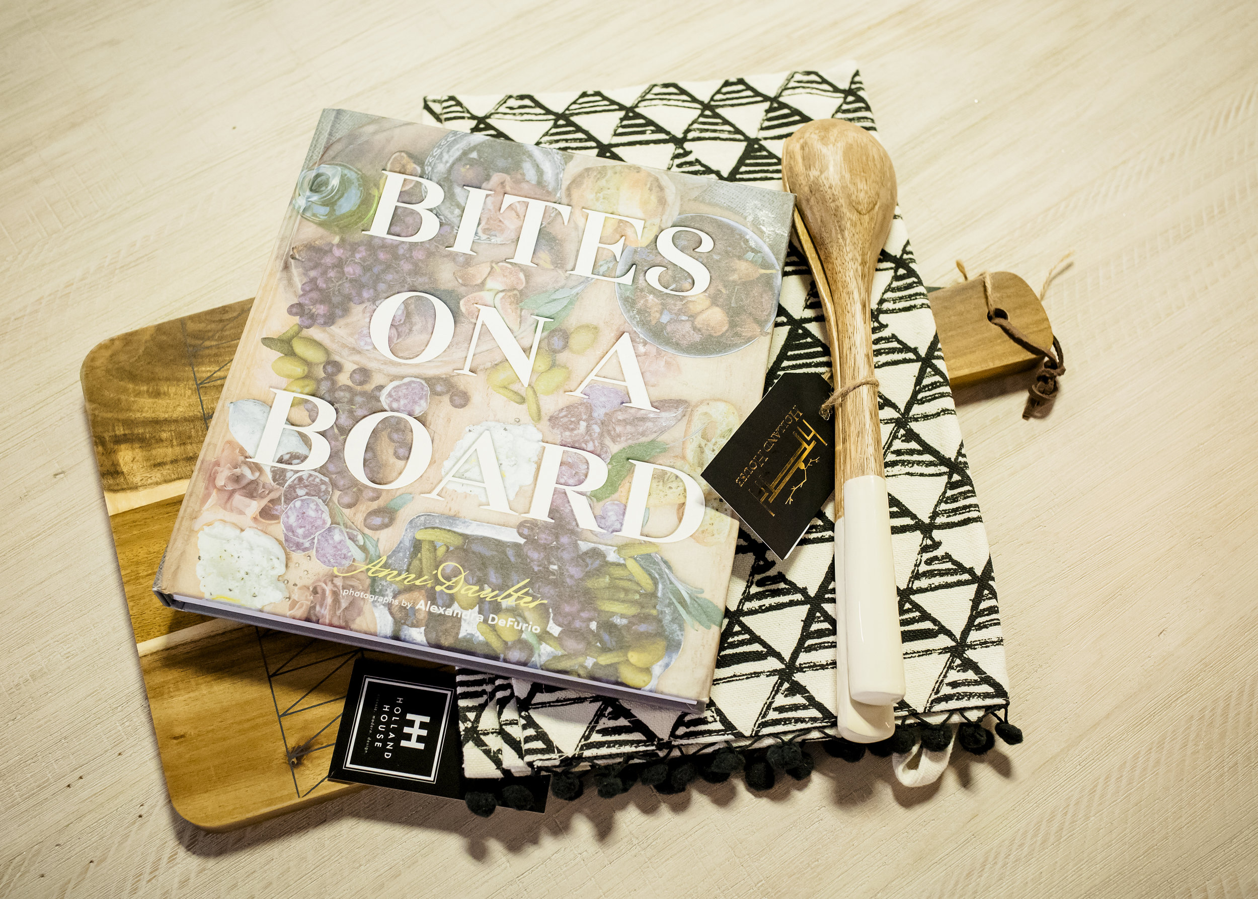 THE MAN - Cutting Board | $28Tea Towel | $11.50Salad Set | $16Bites on a Board | $25