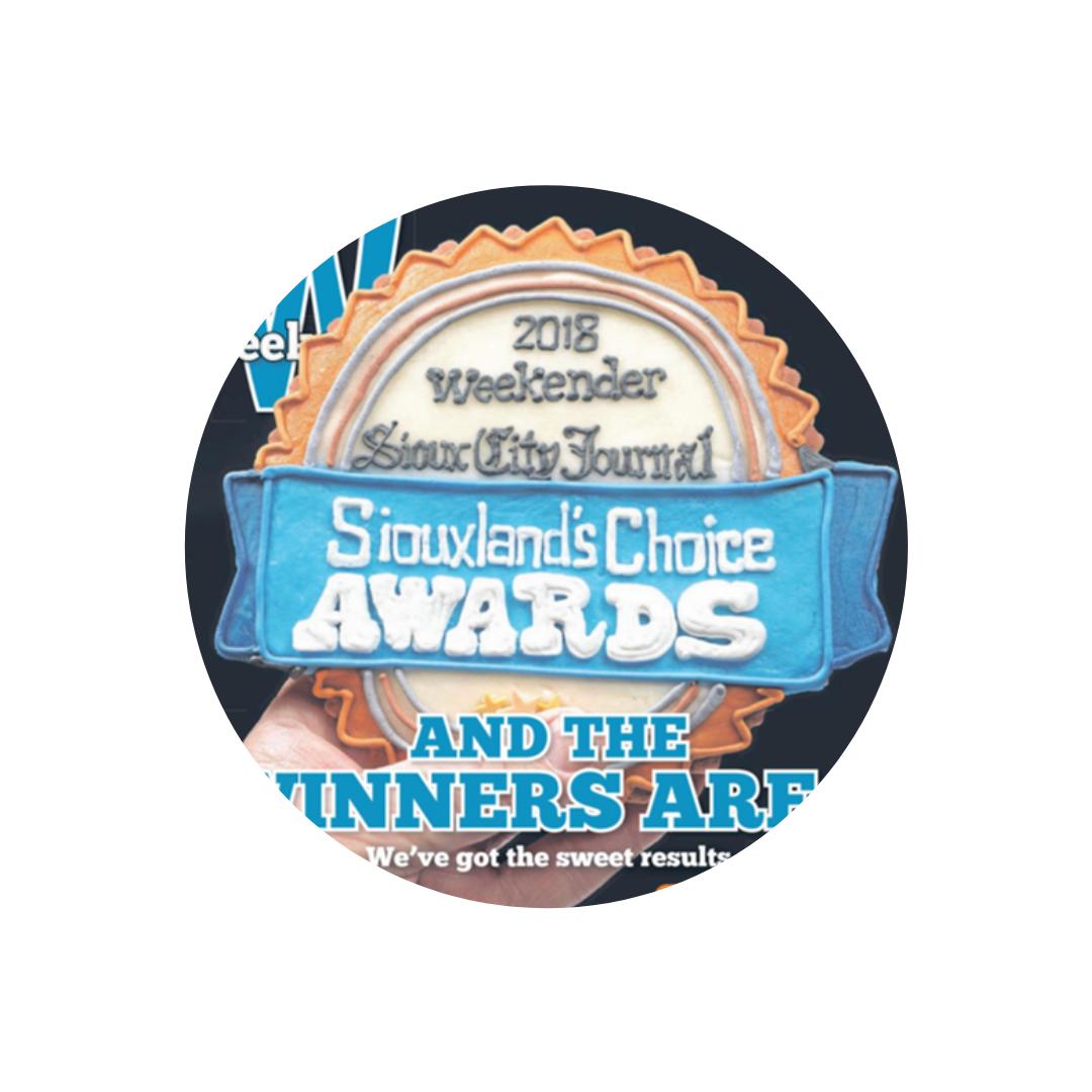 "Sioux City Journal - Siouxland's Choice AwardsVoted Siouxland's 2018 ""Best Home Decor"""