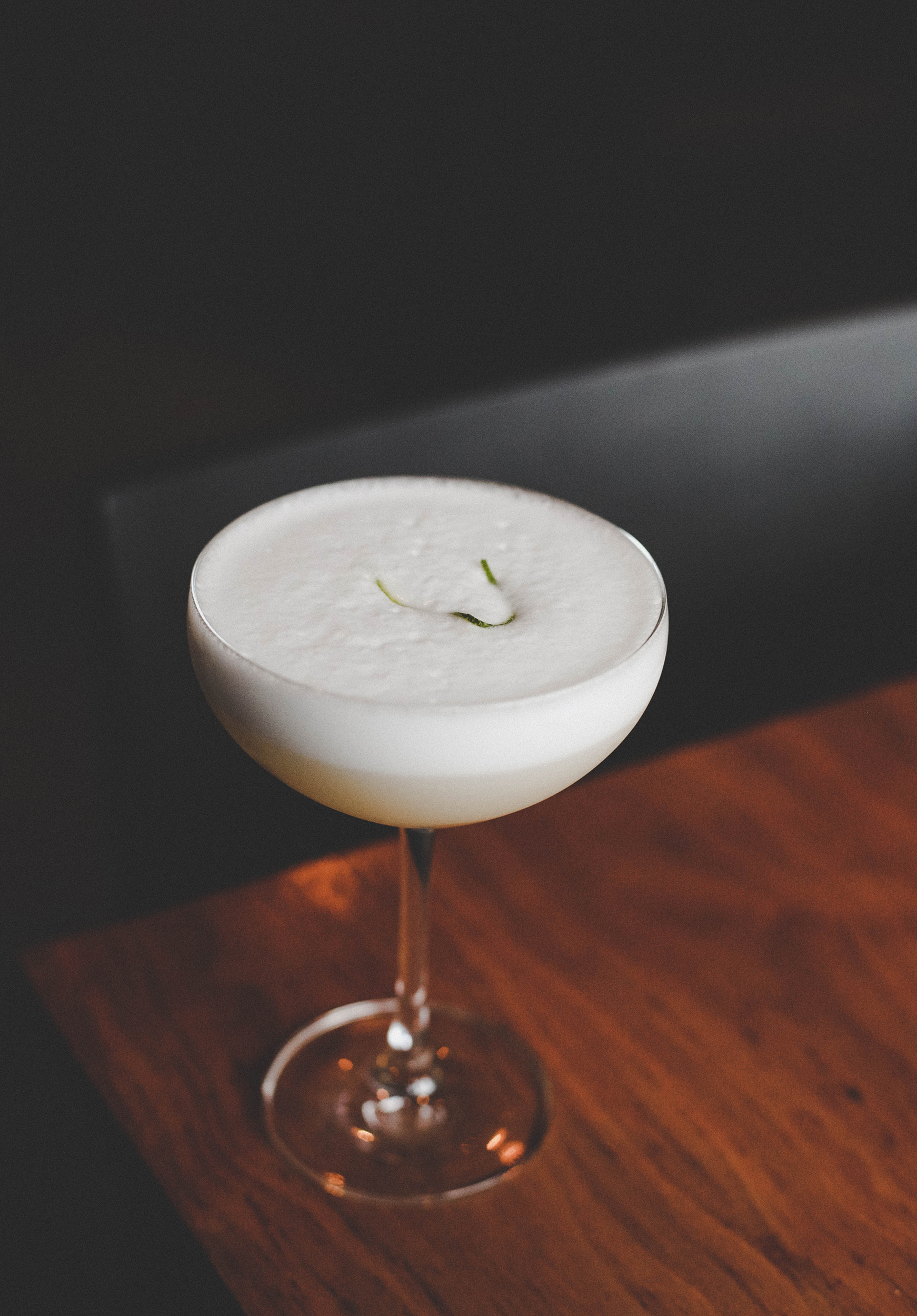 La Bella Christina: coconut milk, house-made almond syrup (orgeat), and kefir lime infused rum.