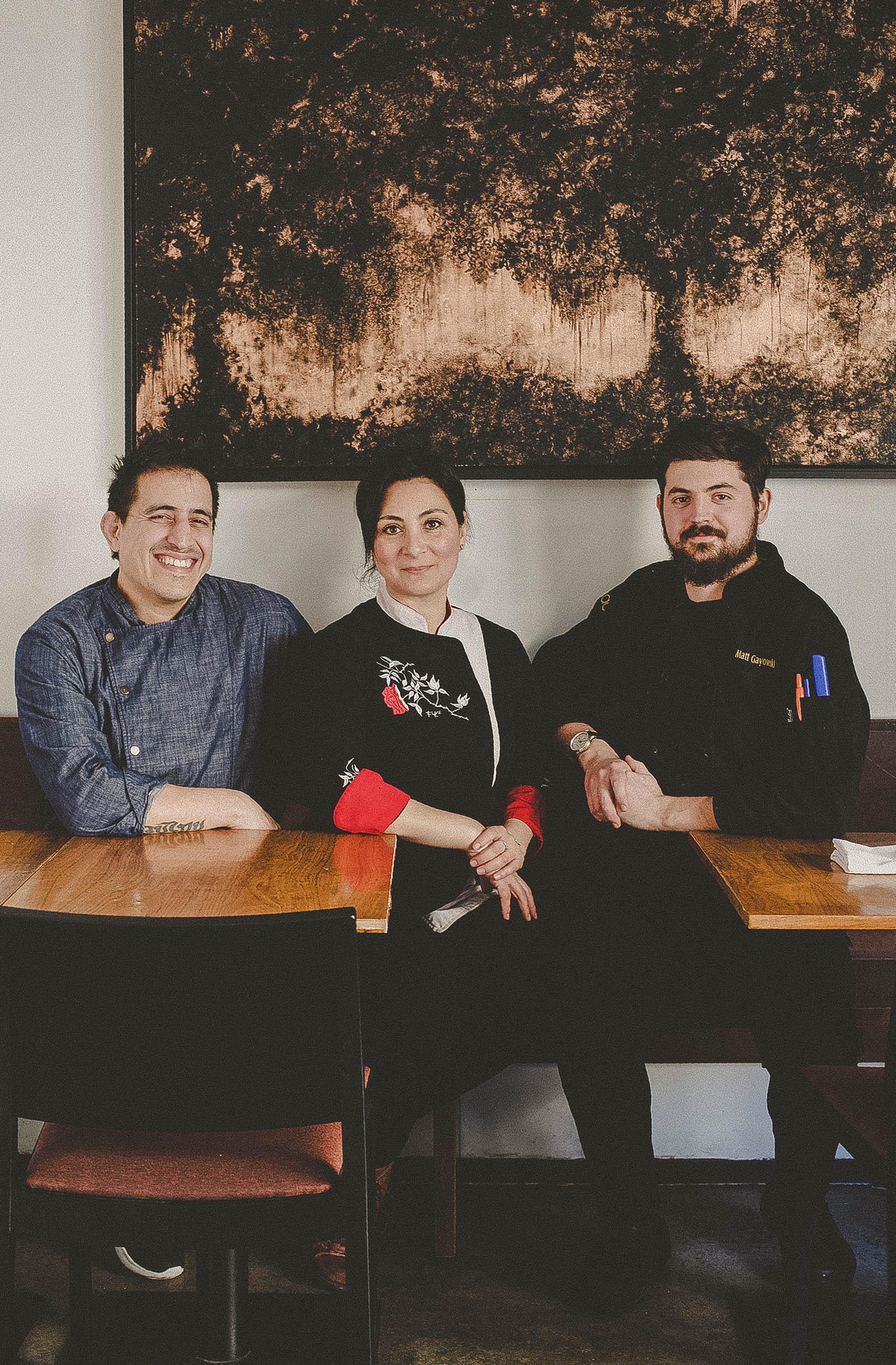 Alvarez, Ramirez, and Matthew Gayowski, Chef De Cuisine.