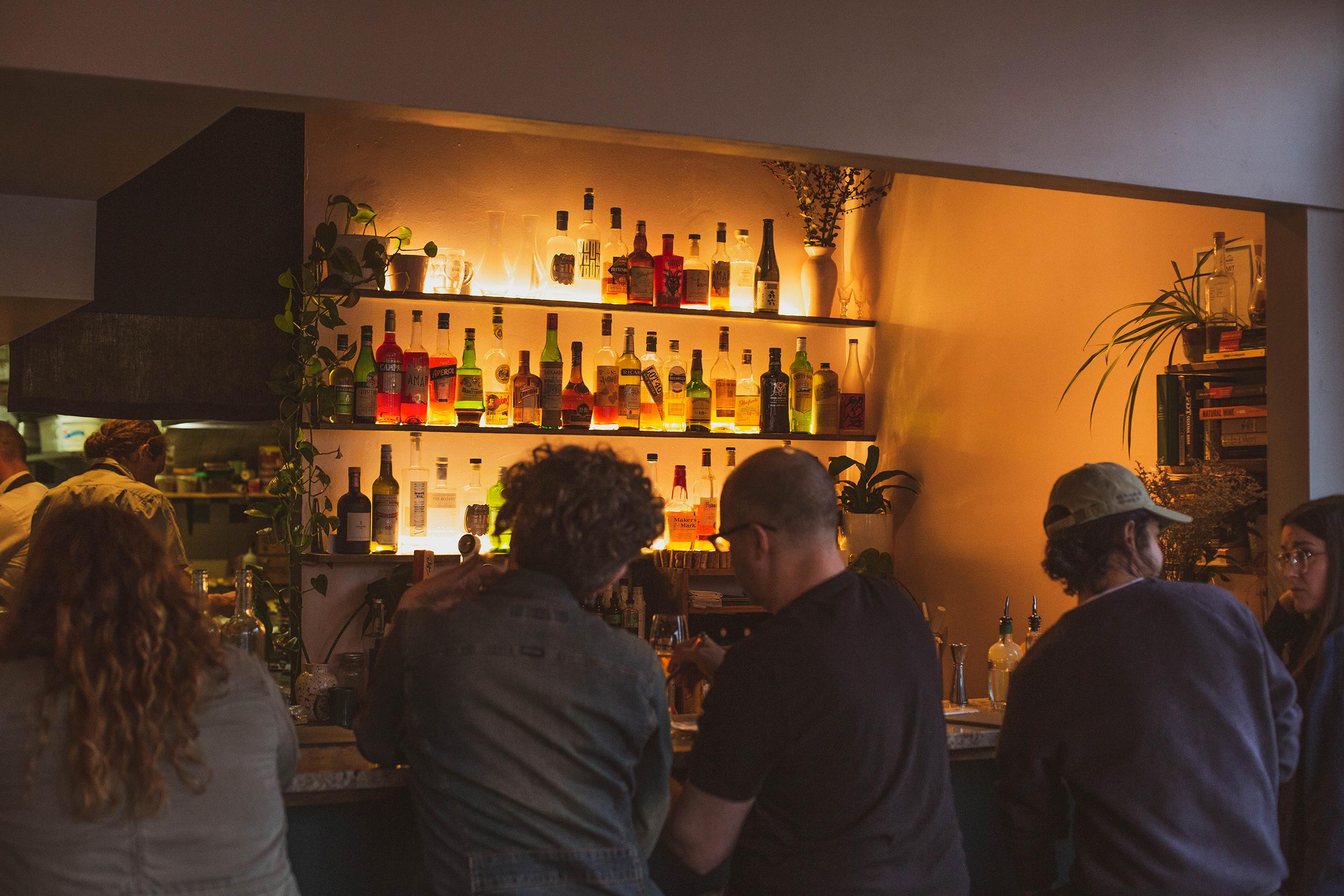 Guests enjoying Whiteside's Northern Ireland inspired bar.