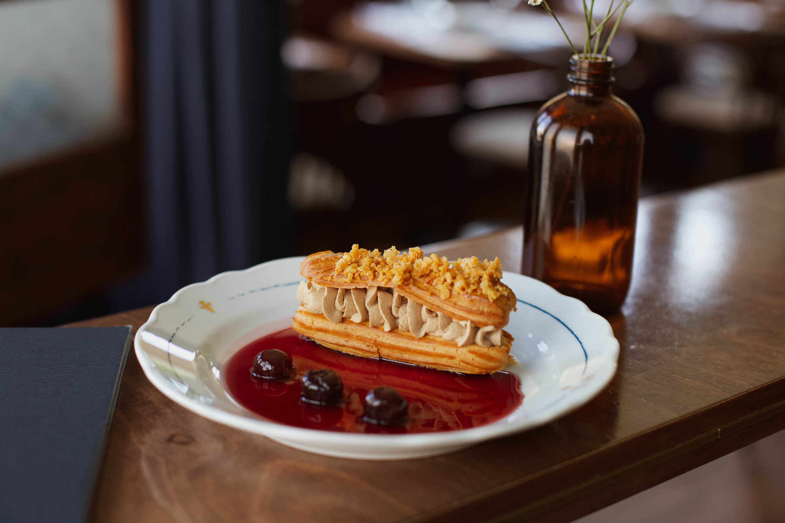 St. Lawrence  - July 29th, 2019 - RAILTOWNWhile out East, Québécois fare has been given its place on stage by the famed duo behind Joe Beef, on the West Coast, French dining all too often refers to another continent. Chef J.C. Poirier of Ask For Luigi had to do some digging to decide what direction to take this new menu in—and the city is lucky he looked to his home province. Leaving dainty behind, St. Lawrence leans to the rich and heavy. French countryside cooking became the mode d'emploi and the restaurant's catchphrase was born: Cuisine de campagne: rustic, generous, and honest.