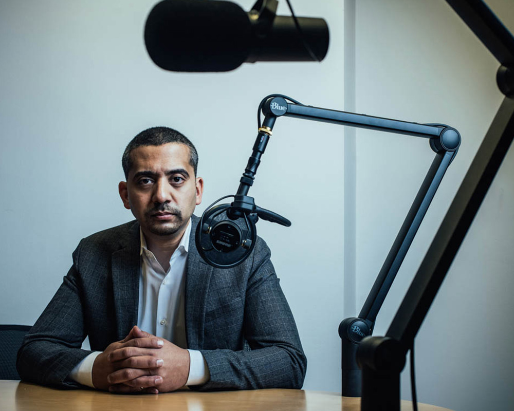 speaking out against corruption - Mehdi Hasan presents fact-based arguments critical of U.S. foreign policy as host of the podcast,