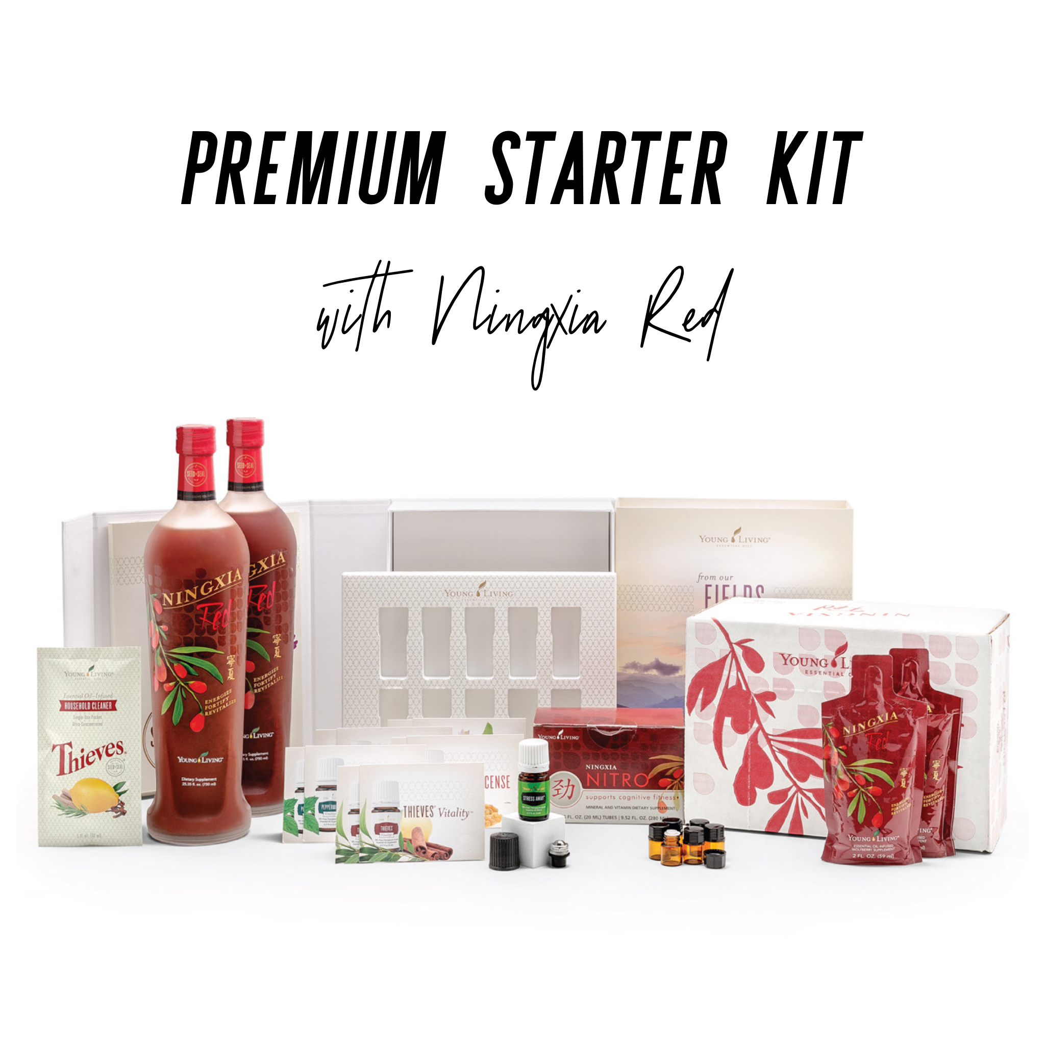 - Ningxia Red is an antioxidant drink made from the wolfberry and other super fruits. Everyone in the family needs to drink Ningxia Red! With this starter kit, you receive two bottles of Ningxia Red and 30 2oz packets for on the go. Ningxia Red supports so many body systems, especially eye health, cellular function, and energy levels. You will also receive a pack of Ningxia Nitro for a midday boost that supports alertness without added sugar and caffeine. If you're into supplements, this is one to add to your list!