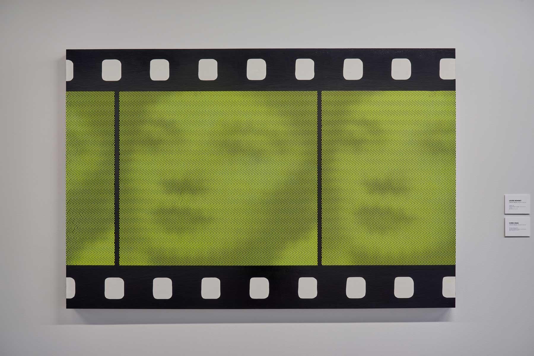 """Chris Cran ,  Film Strip (Zig Zag) , 2017, Acrylique sur panneau de bois, 40"""" x 60"""" (101,6 x 152,4 cm)"""