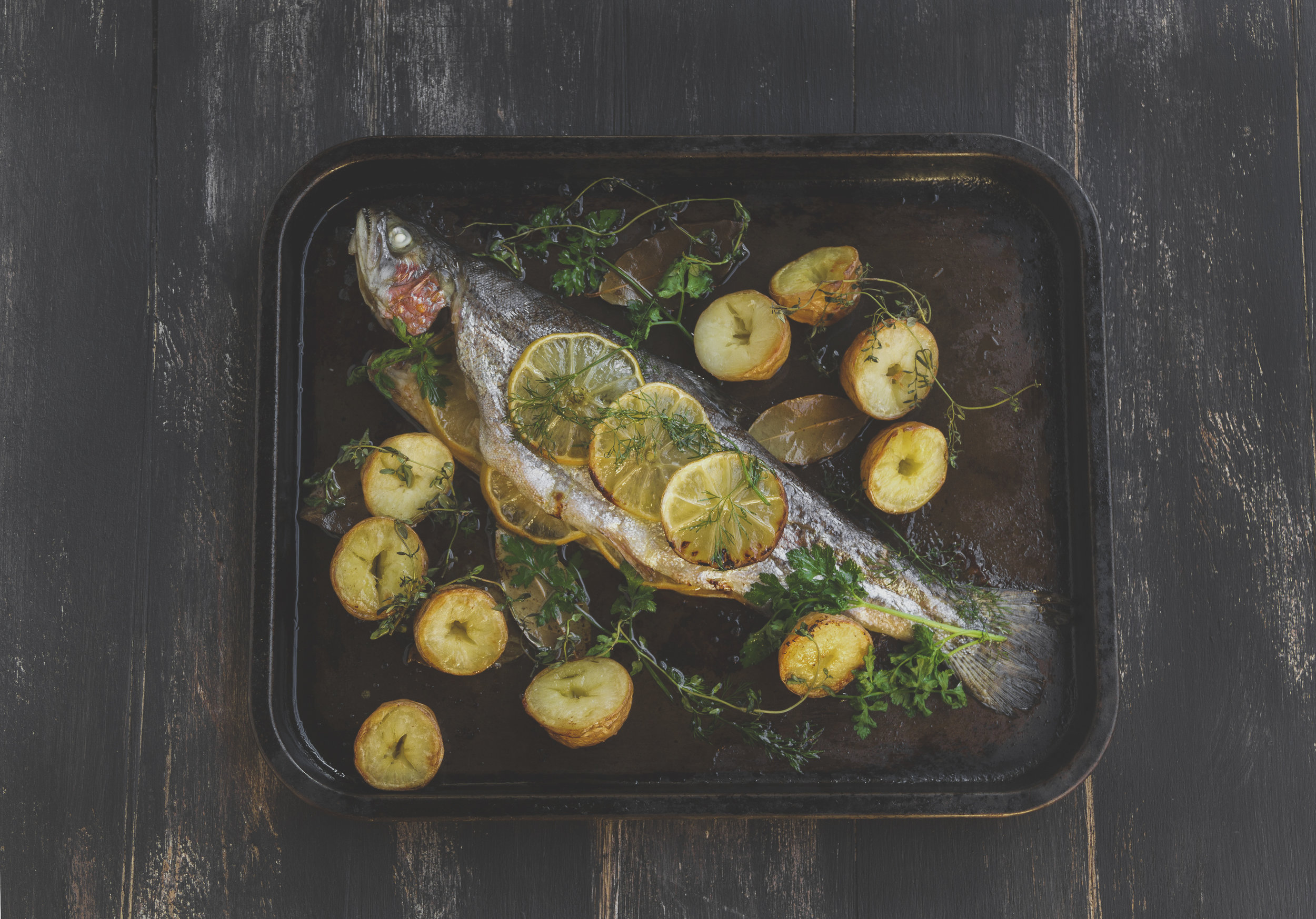 Herb Stuffed Trout