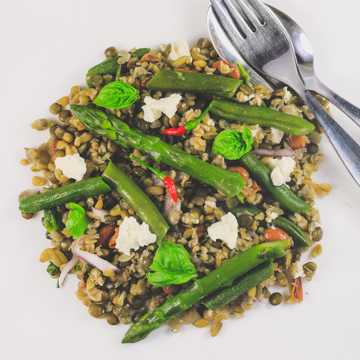 Lentil Asparagus Salad