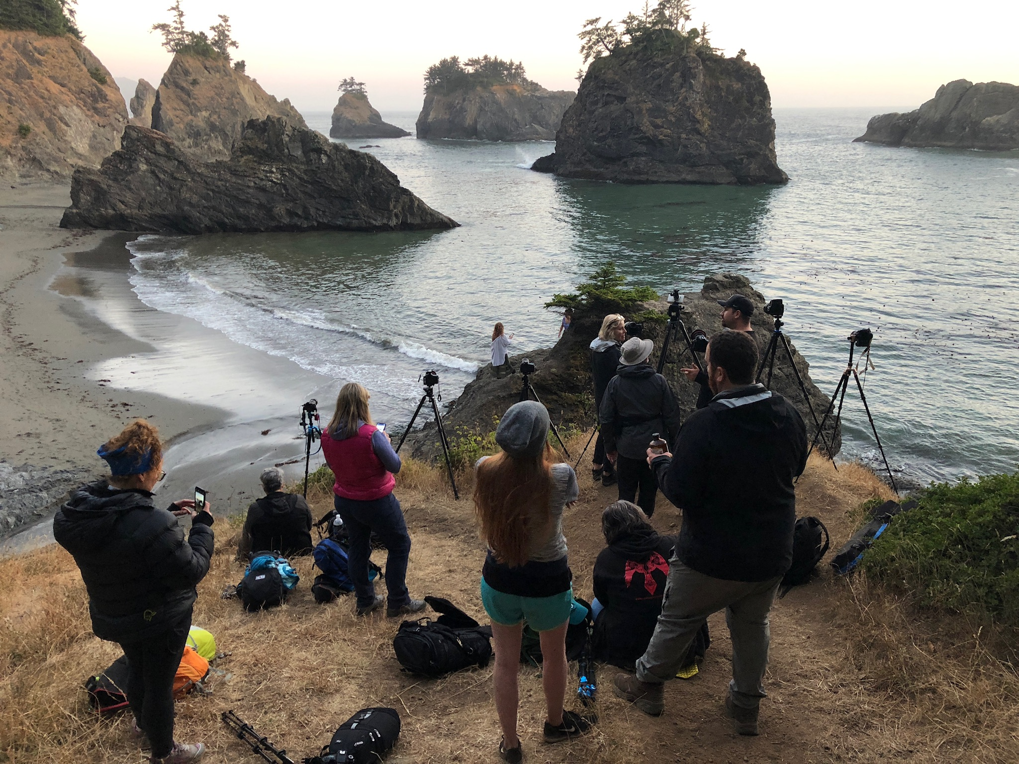 Oregon Coast Group Workshop July - 2018 - Secret Beach